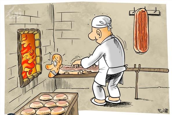 تنور گرانی نان