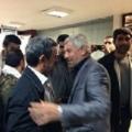 احمدی نژاد به جمع کاروان های راهیان نور پیوست/استقبال آهنگران از رئیس جمهور سابق