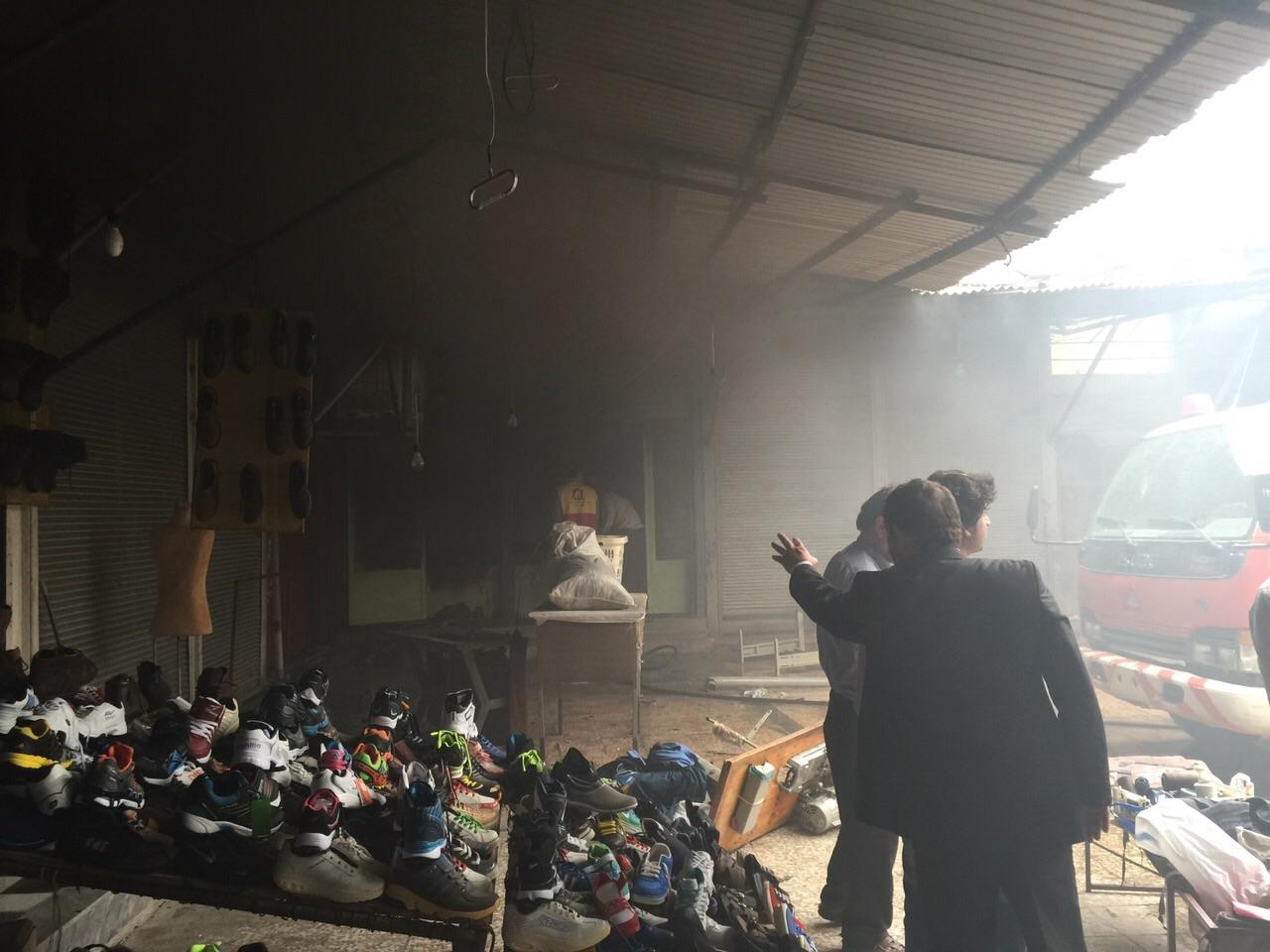 آتش سوزی در بازار امام ایذه+تصاویر