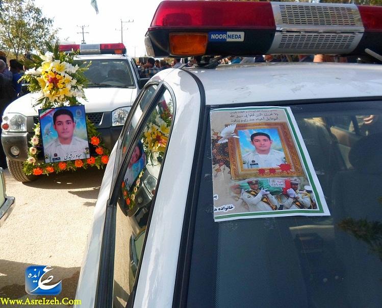 گزارش تصویری خاکسپاری باشکوه شهید سجاد رشیدی