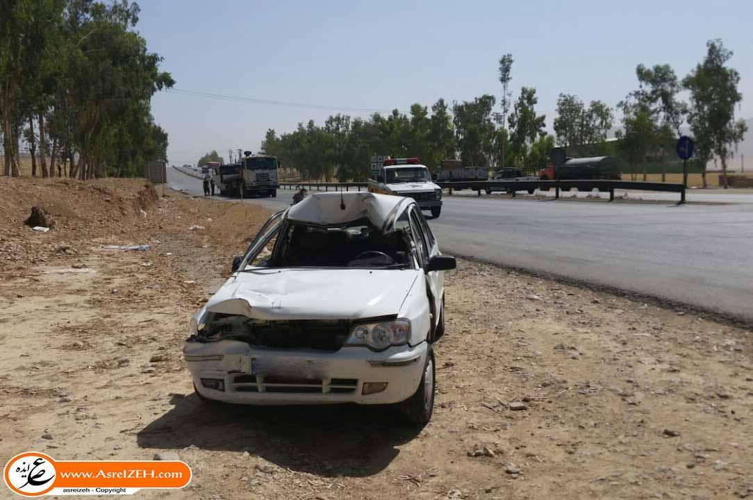 دو تصادف متوالی در ورودی شهر ایذه/ وخامت حال مصدوم حادثه دوم+تصاویر
