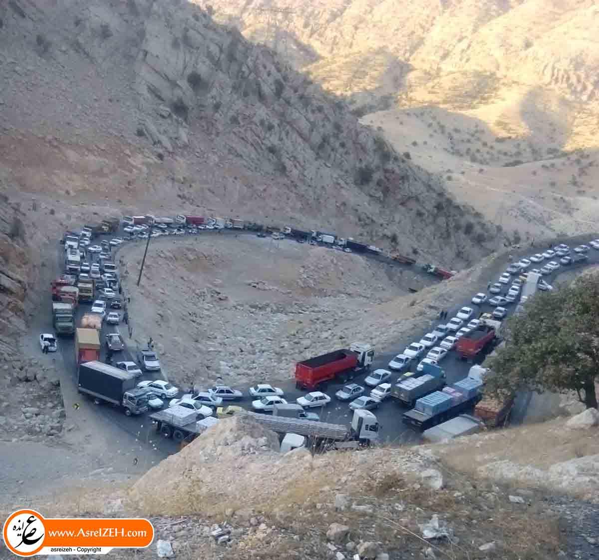 عکس/ ترافیک شدید جاده ایذه به دهدز