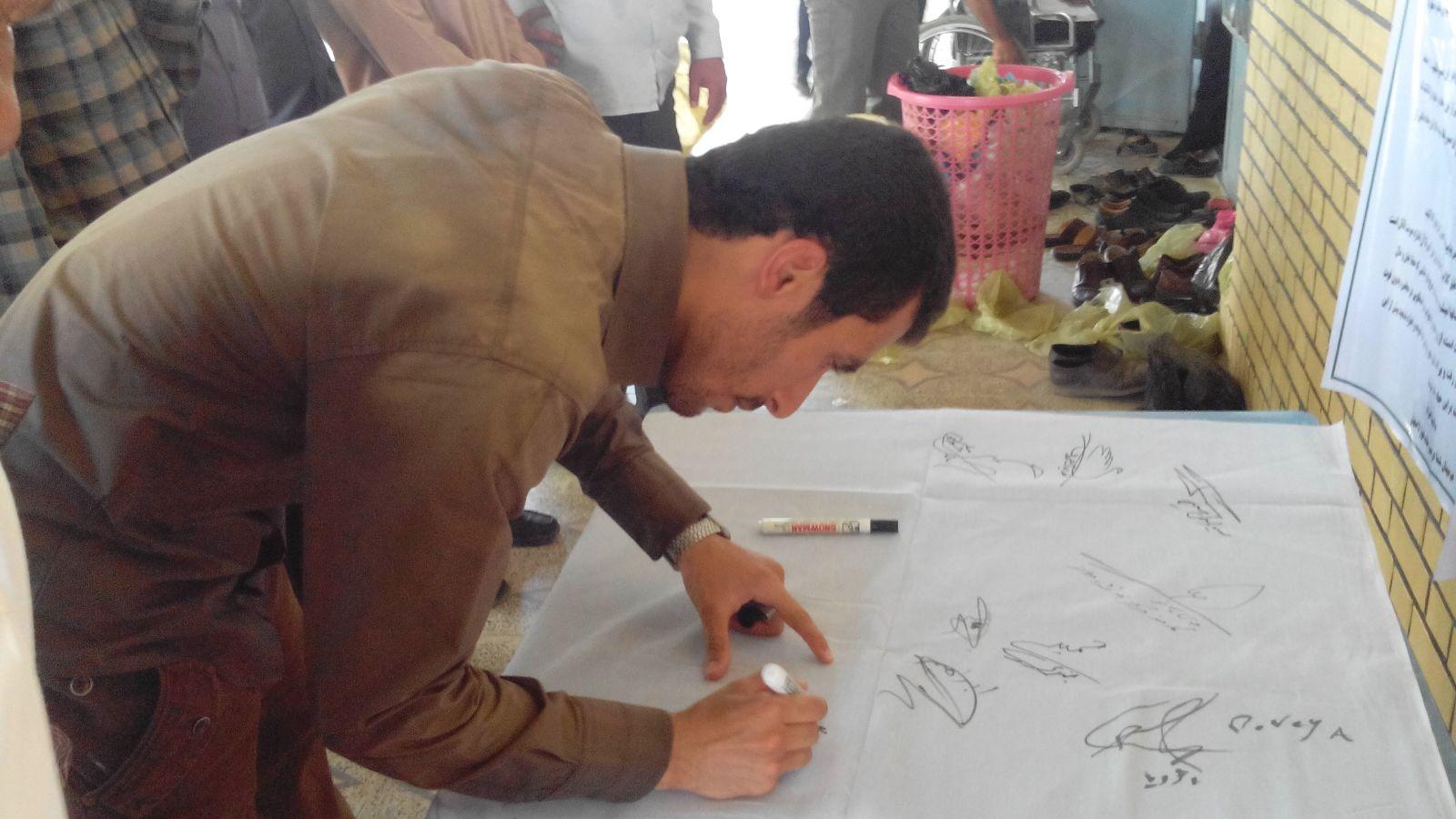 جمعآوری امضاء طومار «جاده مرگ» در ایذه به پایان رسید + تصاویر
