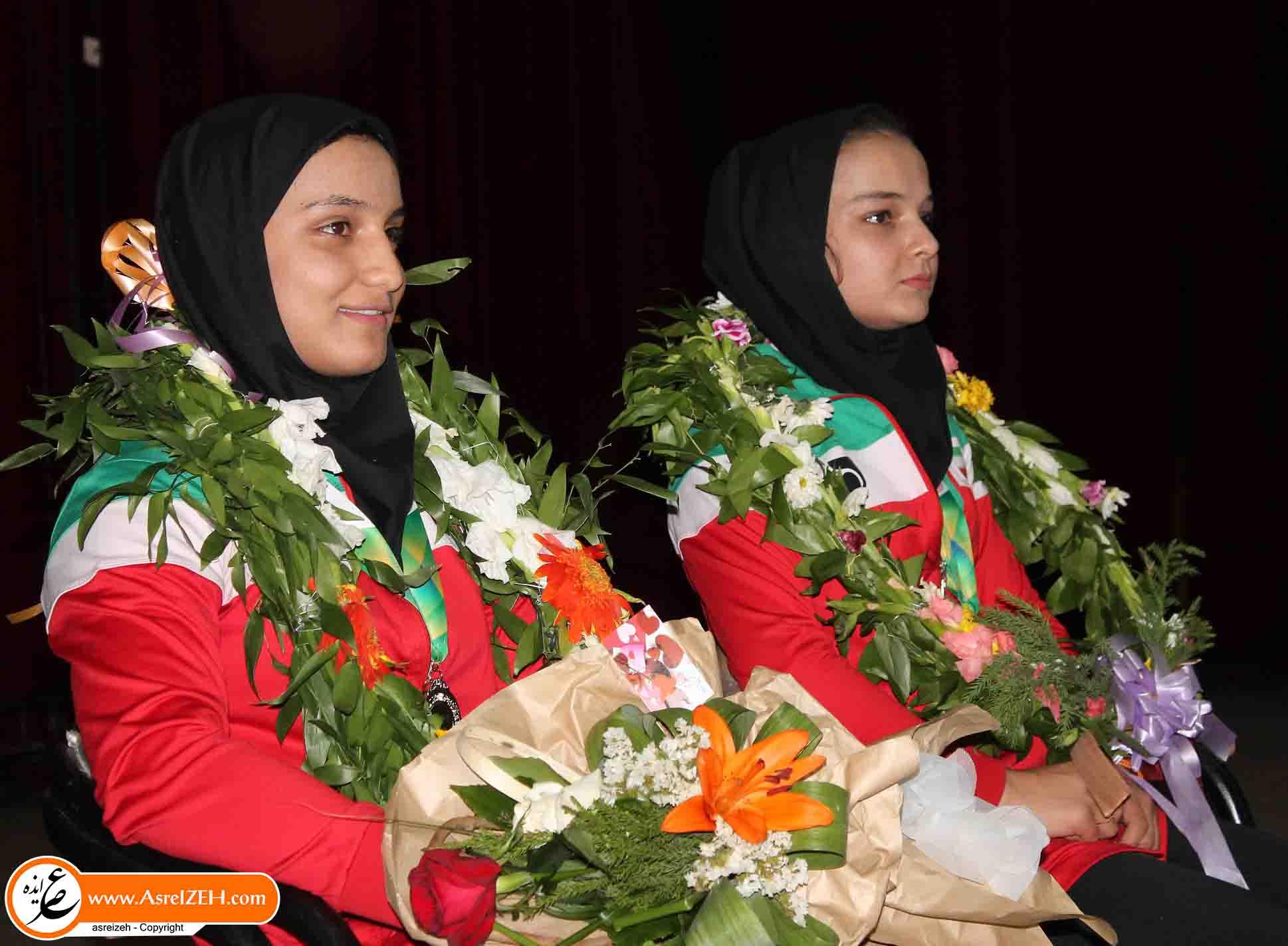 استقبال گرم مردم ایذه از بانوان مدالآور شهرستان در مسابقات آسیایی +تصاویر