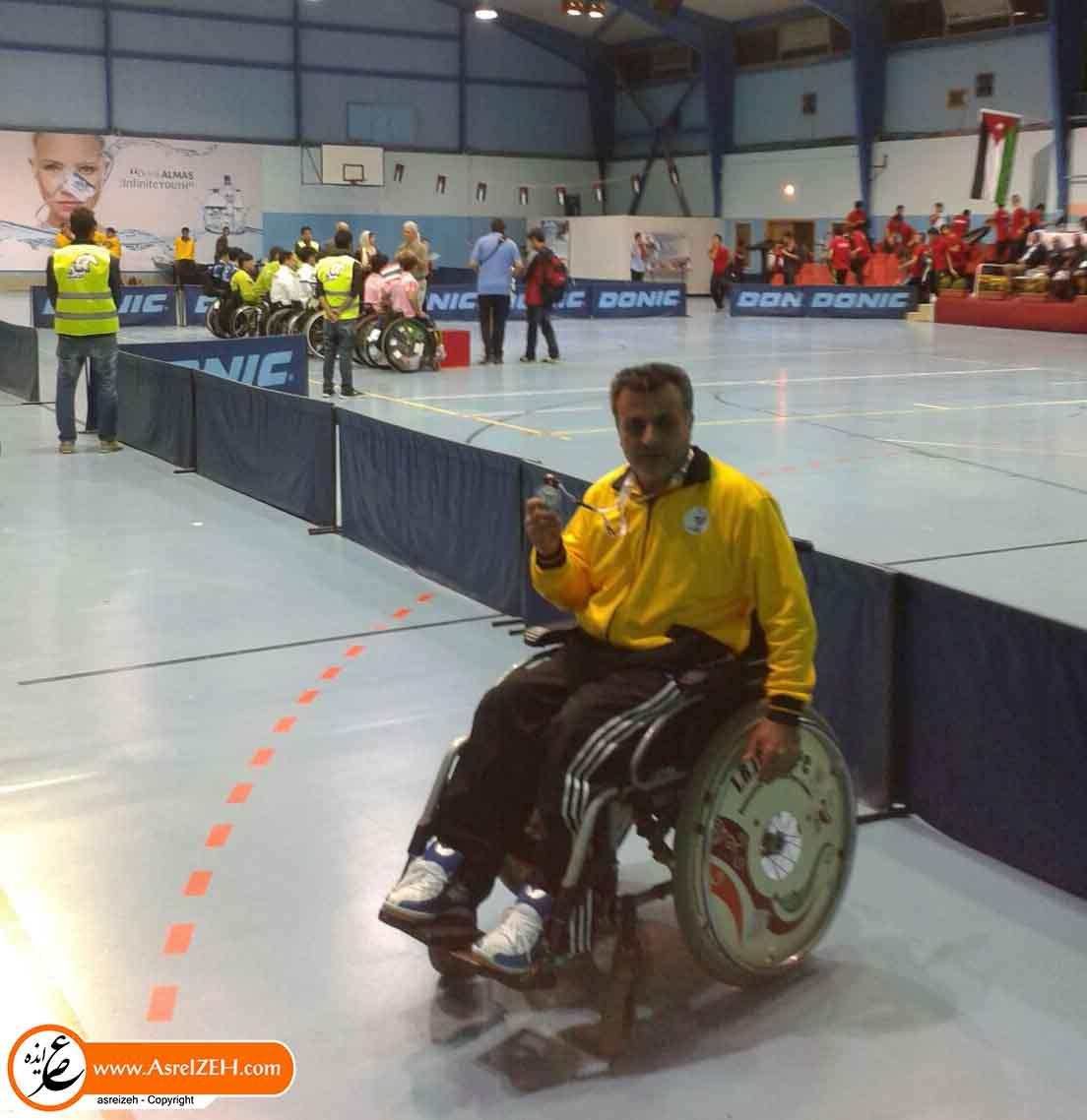 نماینده ایذهای مدال نقره رقابتهای تنیس روی میز جانبازان و معلولین قهرمانی آسیا را کسب کرد+ عکس