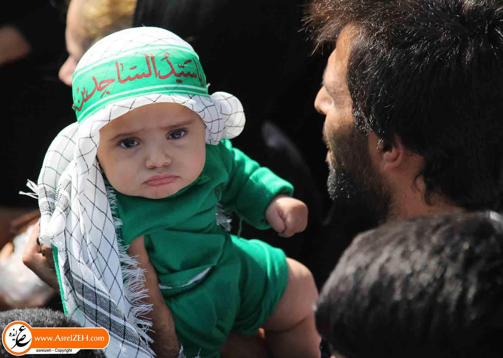 گزارش تصویری عزاداری مردم ایذه در روز تاسوعای حسینی (بخش دوم)