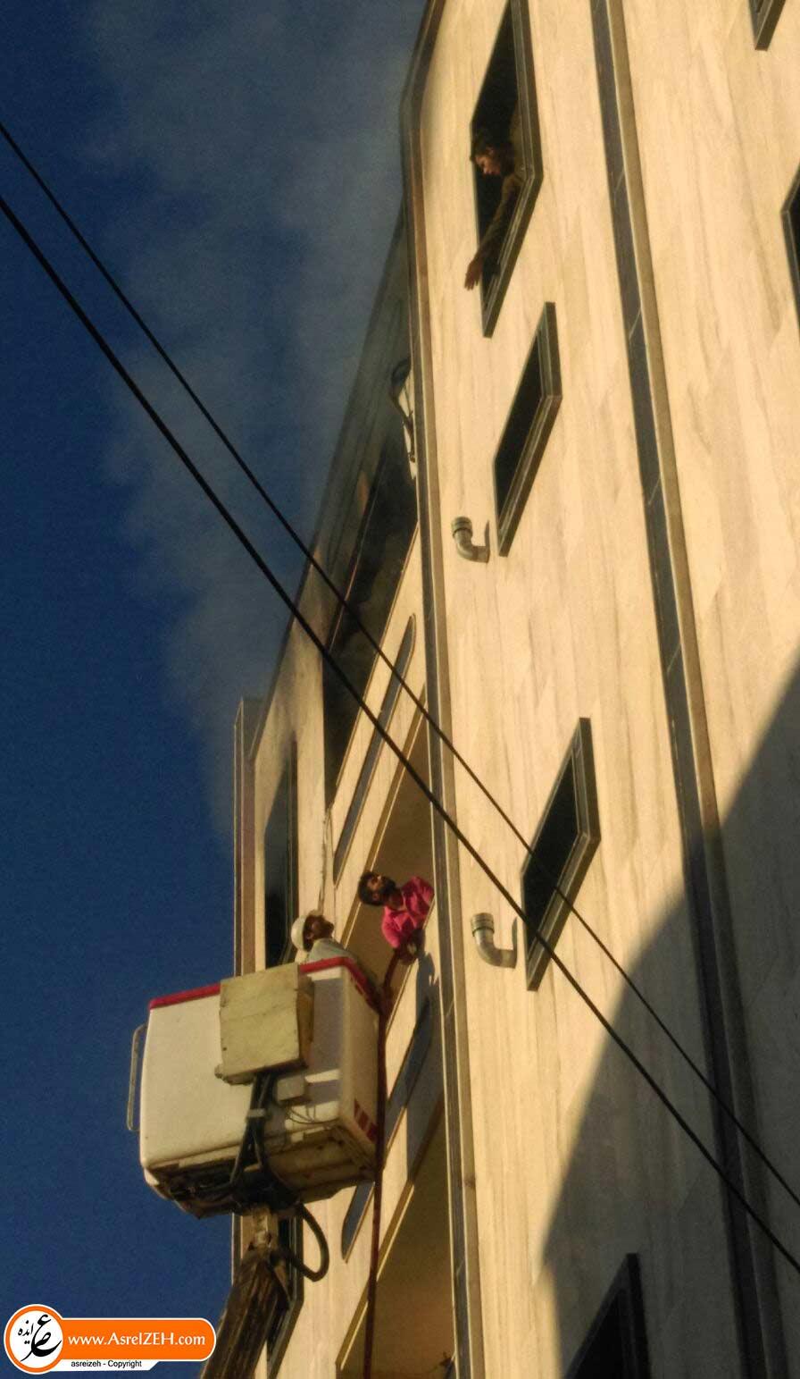 آتش سوزی آپارتمانی در ایذه یک پزشک را به کام مرگ کشاند + تصاویر