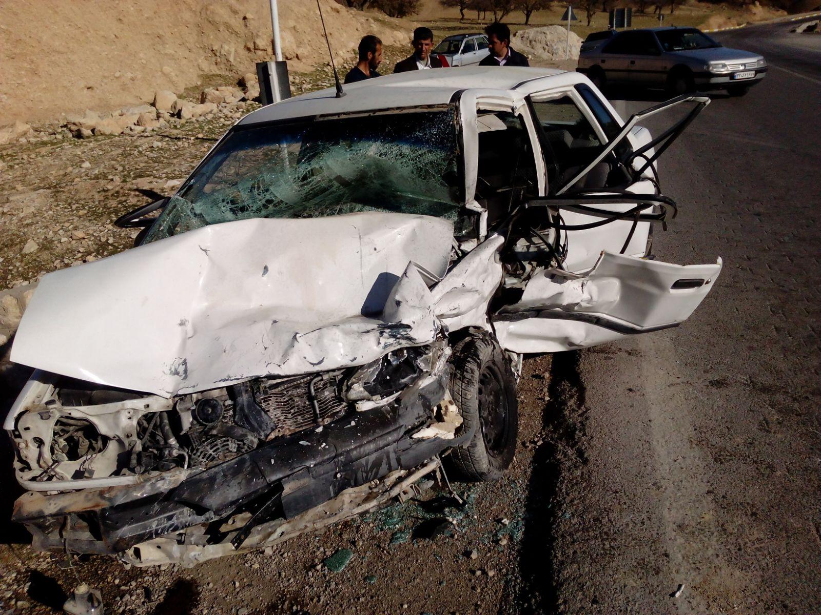 تصادف هولناک در محوره ایذه-دهدز ۳کشته و زخمی برجای گذاشت + تصاویر