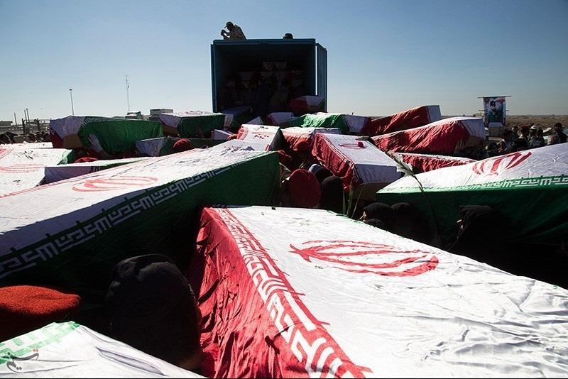 گزارش تصویری/ تبادل پیکر ۹۳ شهید در مرز شلمچه