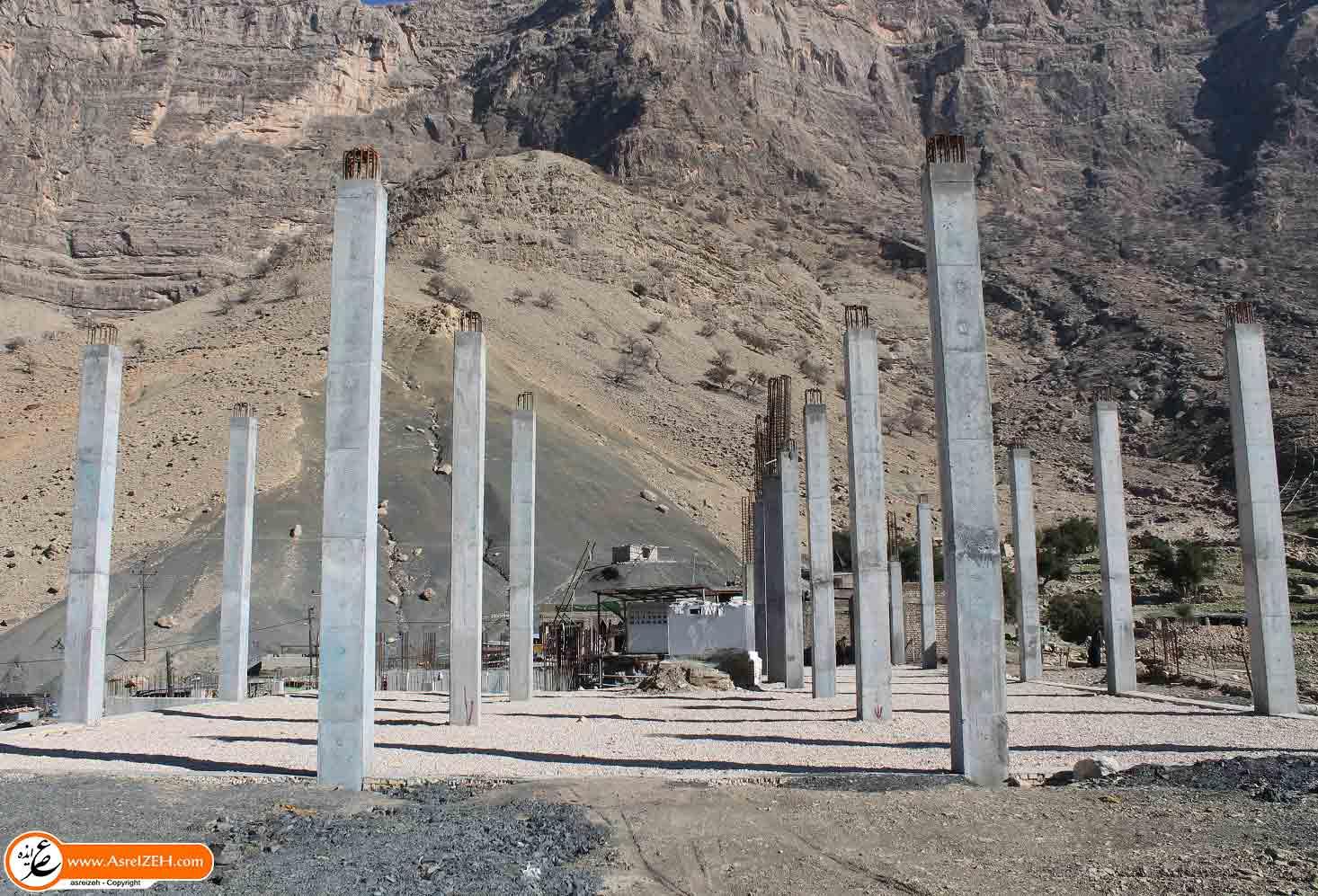 گزارش تصویری/ روند ساخت بارگاه امامزاده سلطان ابراهیم(ع)