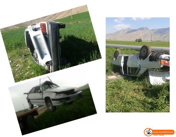 ۳ واژگونی در جاده ایذه- پیان، ۷ کشته و زخمی برجای گذاشت + تصاویر