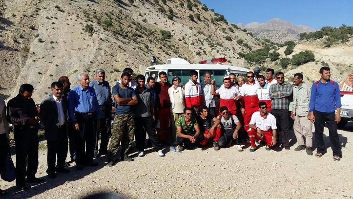 نجات کوهنورد گمشده در کوه های اطراف قلعه تل