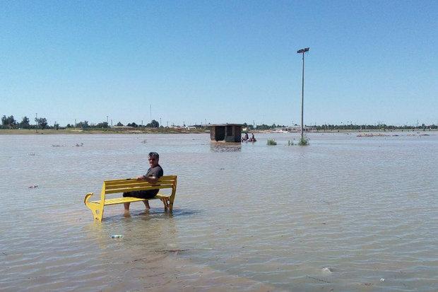 خوزستان در کشاکش سیلاب و گرد و غبار/ سیلاب، حقابه کارون است