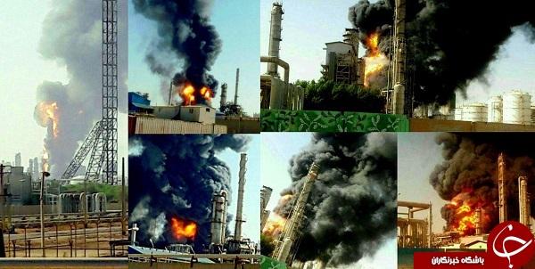 خوشحالی آل سعود برای انفجار پتروشیمی بوعلی+ عکس