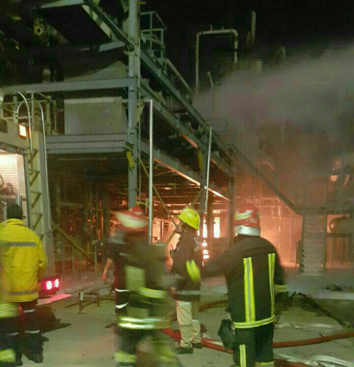 سومین حادثه آتش سوزی پتروشیمی بندرامام در ۳۰ دقیقه مهار شد