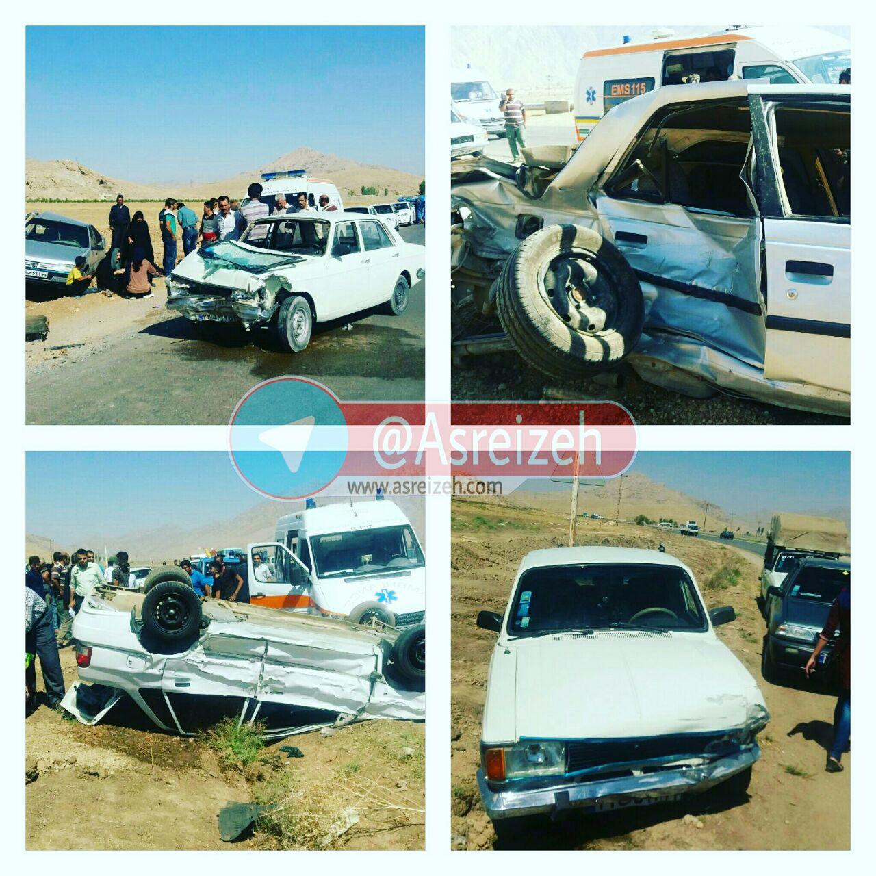 دو حادثه در جاده ایذه-پیان هشت مصدوم برجای گذاشت+تصاویر