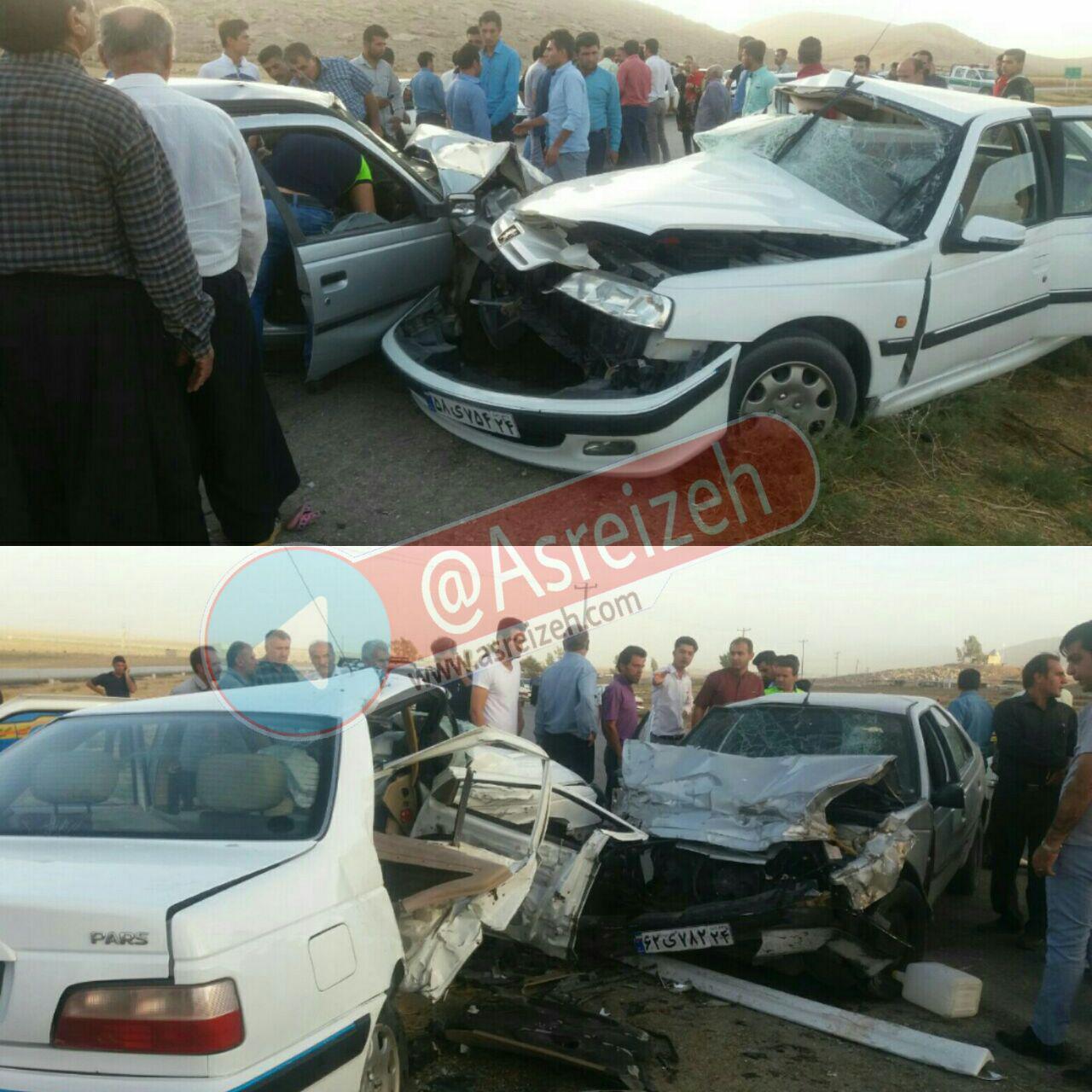تصادف سهمگین دو خودرو پژو در جاده ایذه_پیان چهار کشته و هفت زخمی برجای گذاشت
