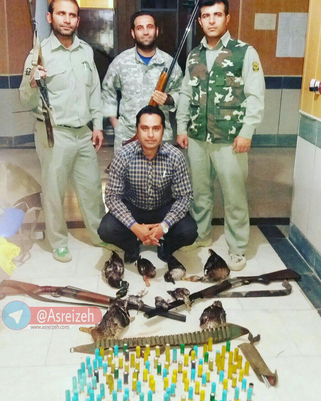 سه شکارچی اهوازی در تالاب میانگران ایذه دستگیر شدند