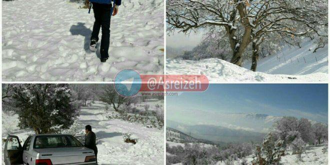 بارش برف در اولین روز زمستان کار آموزش را در روستاهای دهدز مختل کرد