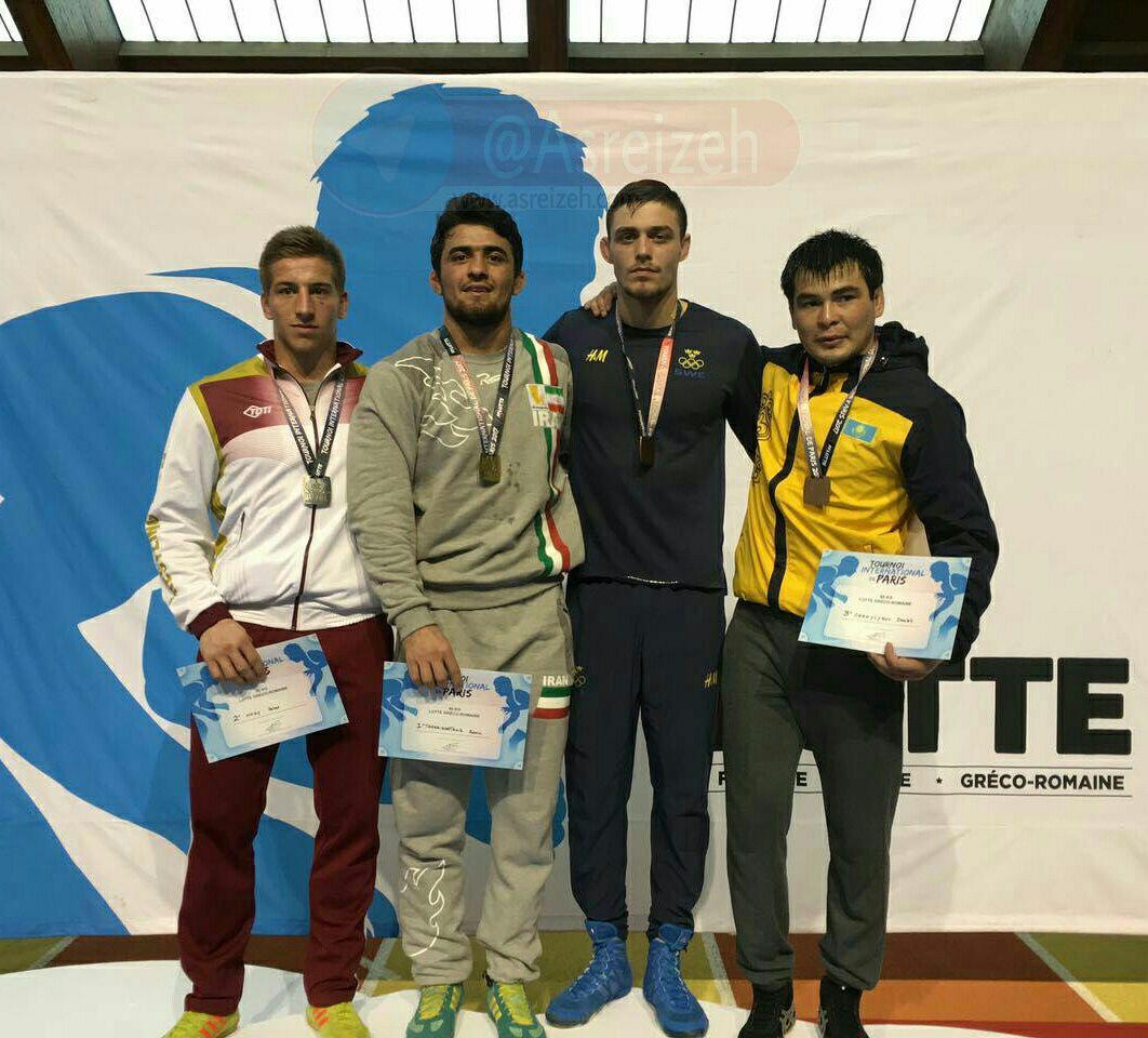 رامین طاهری مدال طلای مسابقات بین المللی پاریس را کسب کرد