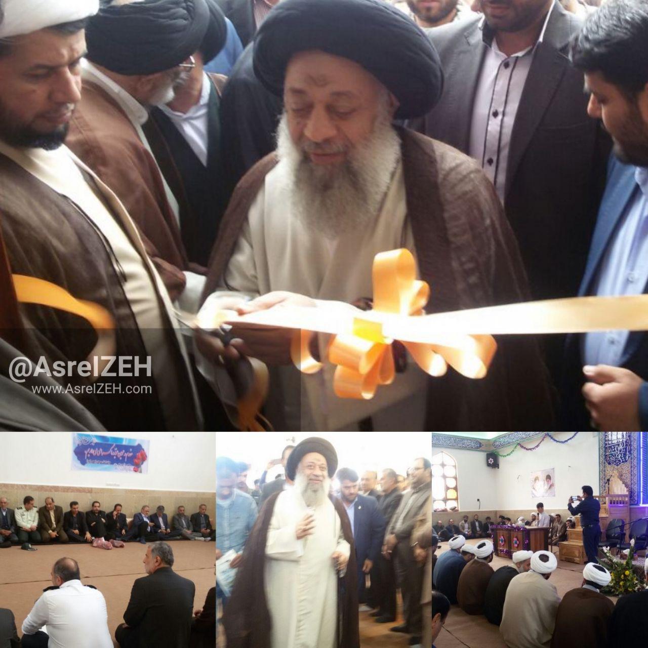 عکس/ افتتاح مسجد ولیعصر(عج) ایذه باحضور آیت الله جزایری