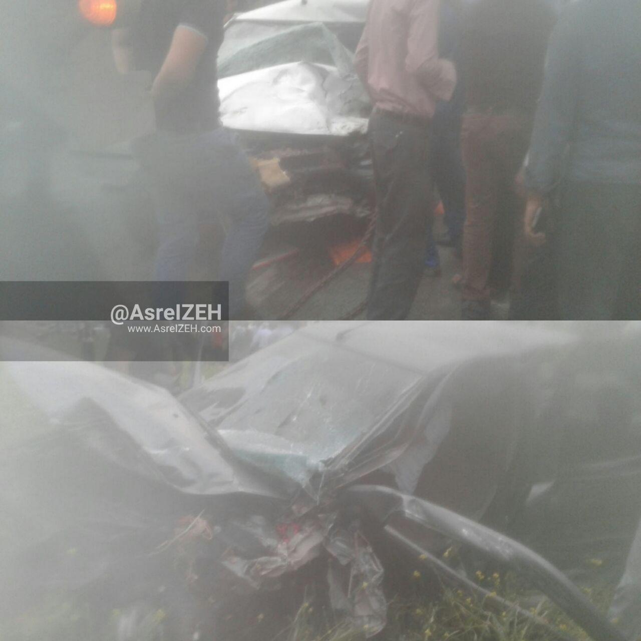 عکس/ تصادف هولناک با یک کشته و ۶زخمی در جاده ایذه_بارانگرد