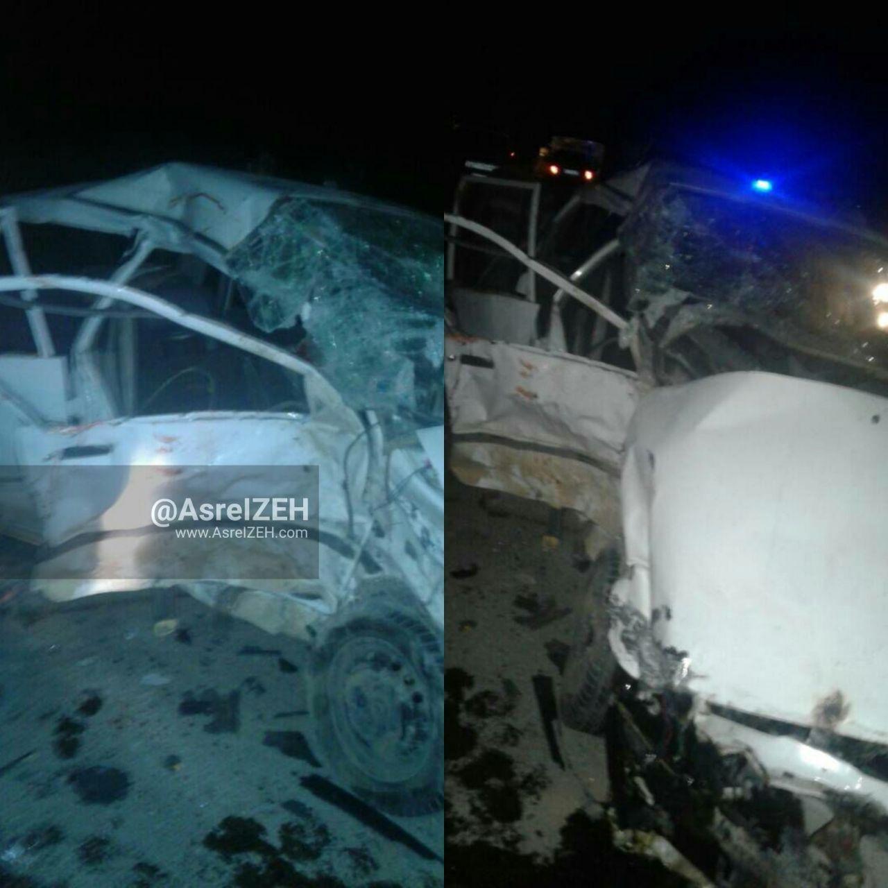 برخورد ۲خودروی پراید در جاده ایذه_پیان ۷کشته و زخمی برجای گذاشت