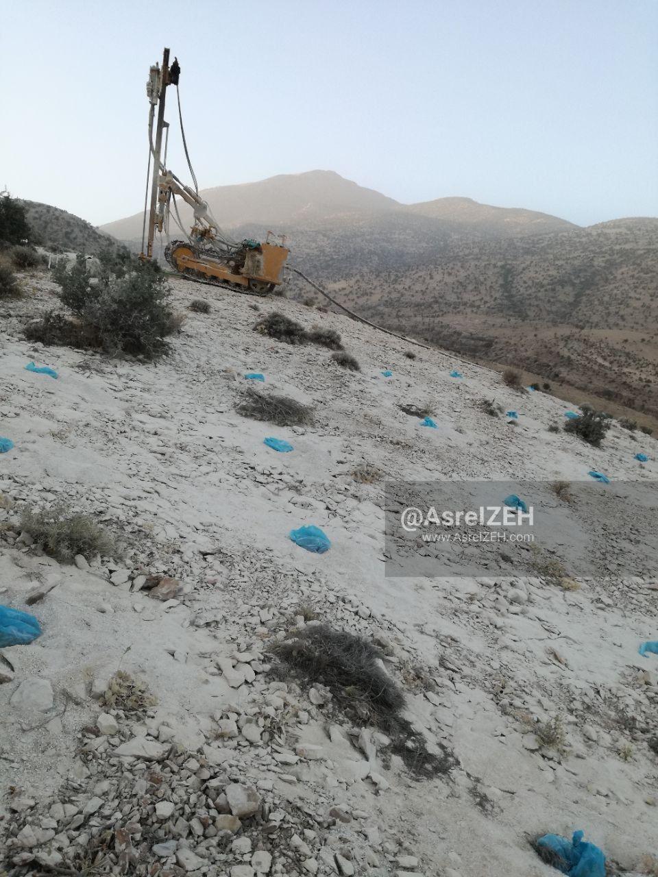پروژه برداشت سنگ از دامنه کوه منگشت با دستور قضایی متوقف شد