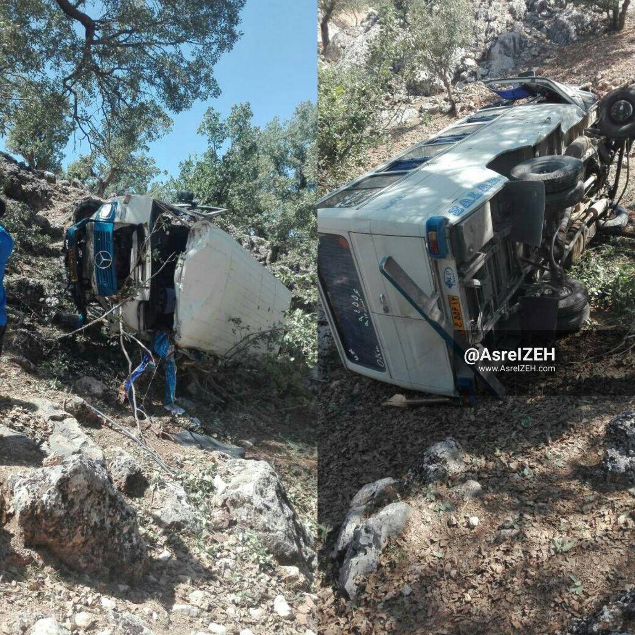 واژگونی مینیبوس در سوسن ۱۵ مصدوم برجای گذاشت +عکس
