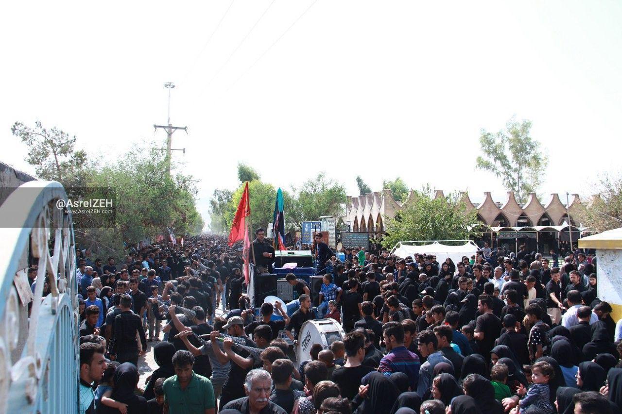 گزارش تصویری/ اجتماع پرشور مردم ایذه در تاسوعای حسینی