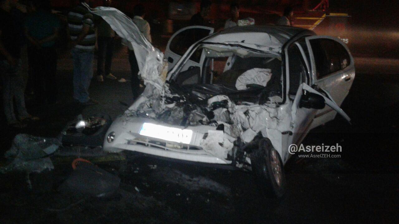 تصادف هولناک در نزدیکی پادگان قدس ایذه ۳کشته و زخمی برجای گذاشت