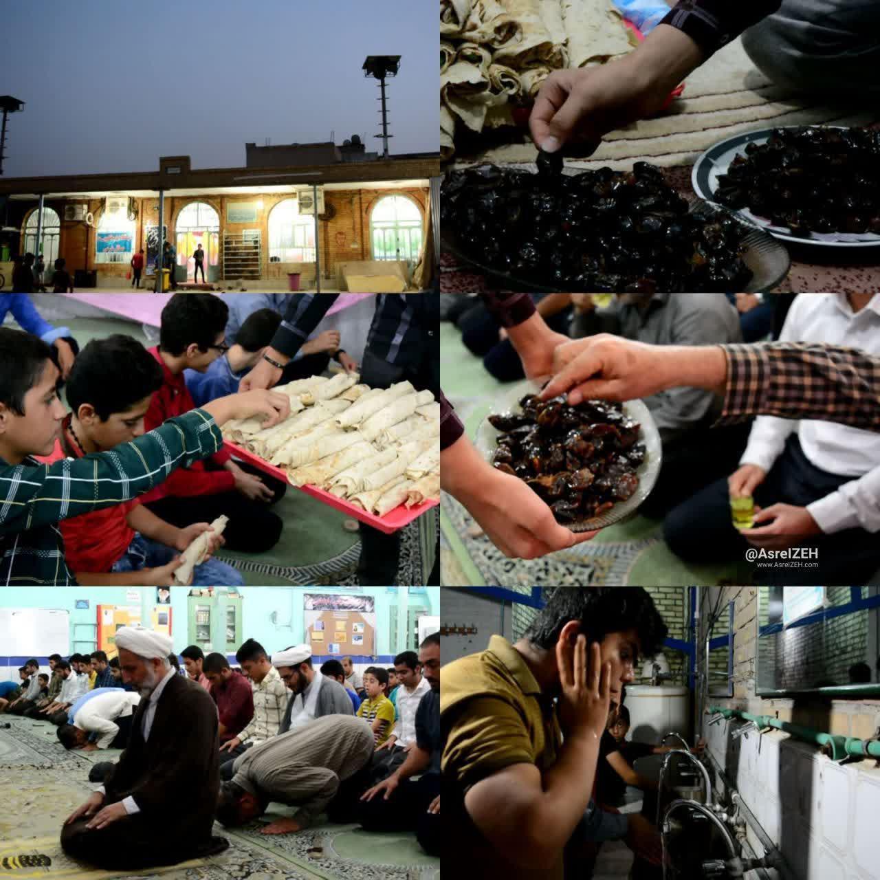 عکس/ حال هوای مساجد ایذه در ماه مبارک رمضان