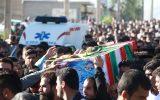 گزارش تصویری تشییع و خاکسپاری سه شهید ترور اهواز در باغملک