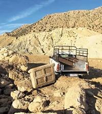 درب سنگی ۵۰۰کیلویی متعلق به الیماییها در ایذه کشف شد