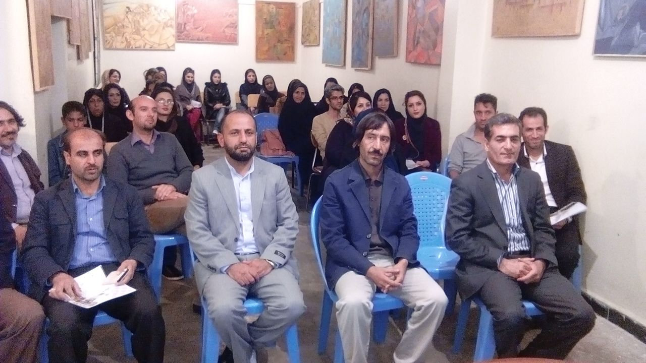 برگزاری کارگاه نقاشی باحضور نقاشان استانی در اداره ارشاد ایذه