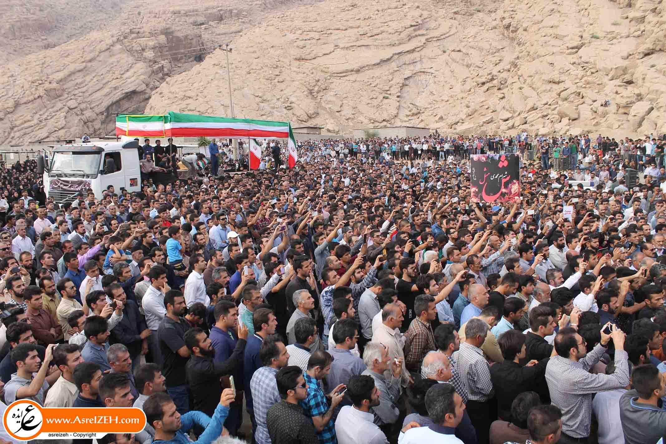 تشابه مراسم خاکسپاری مرتضی پاشایی و شهرام محمدی + تصاویر