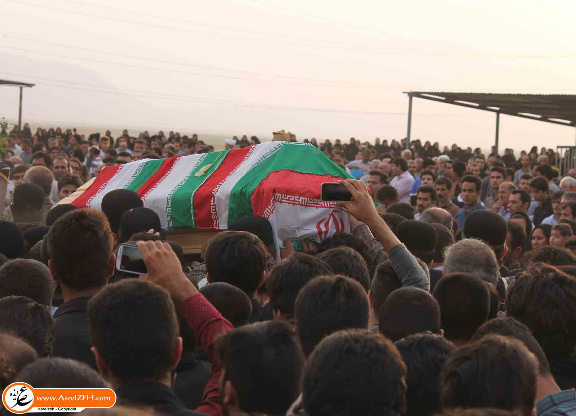 گزارش تصویری تشییع باشکوه پیکر شهرام محمدی