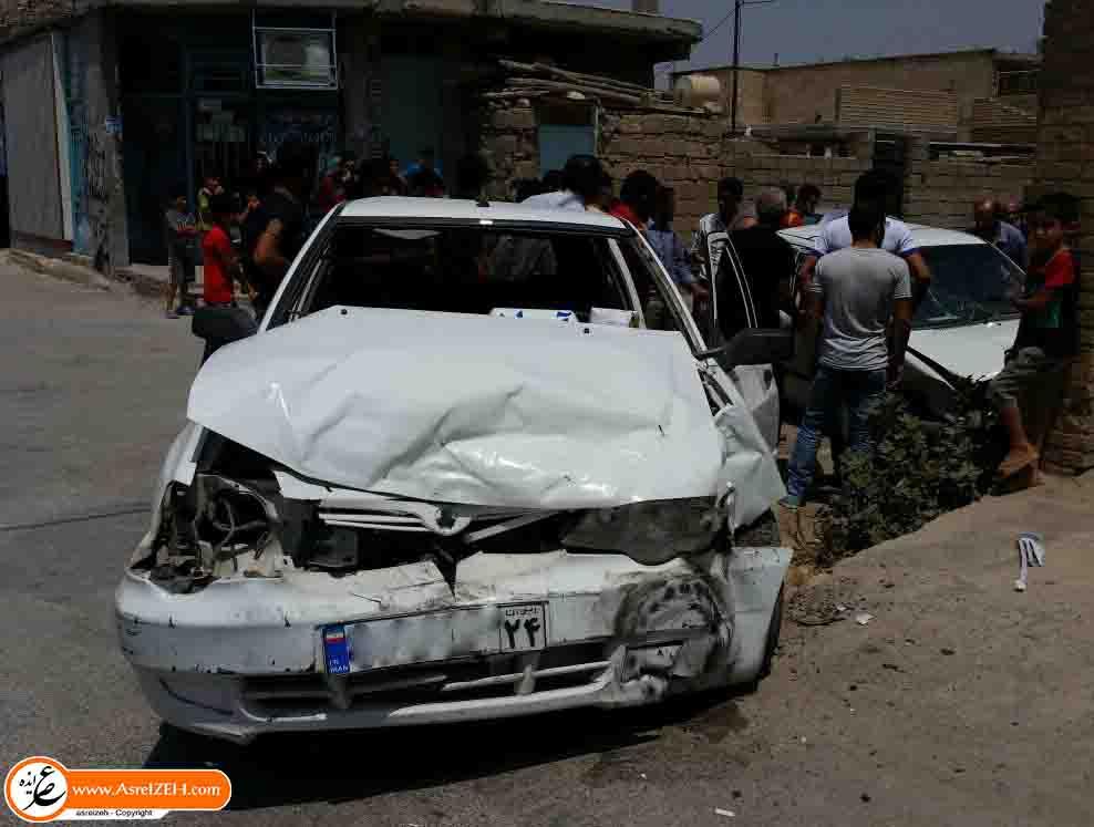دو تصادف شدید کمتر از یک ساعت در یک نقطه از ایذه رخ داد +تصاویر