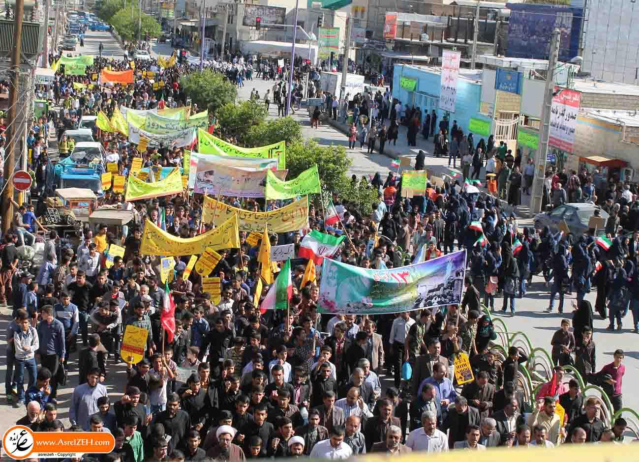 گزارش تصویری/ مراسم راهپیمایی یوم الله سیزده آبان در ایذه