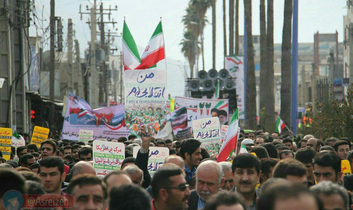 تجدید میثاق مردم ایذه با آرمان های انقلاب در راهپیمایی ۲۲بهمن