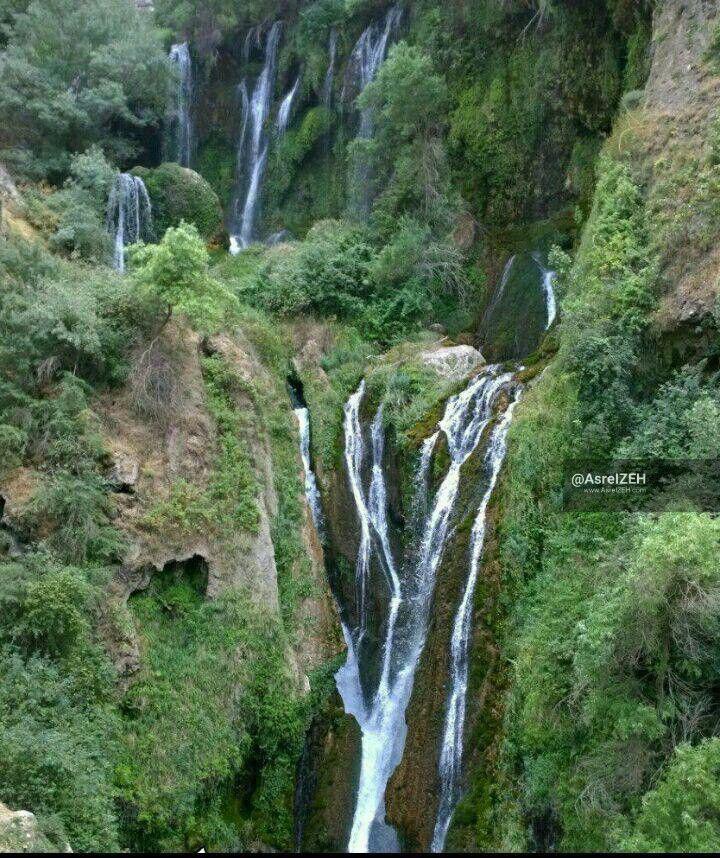 عکس/ نمایی کمتر دیده شده از آبشارهای روستای شیوند